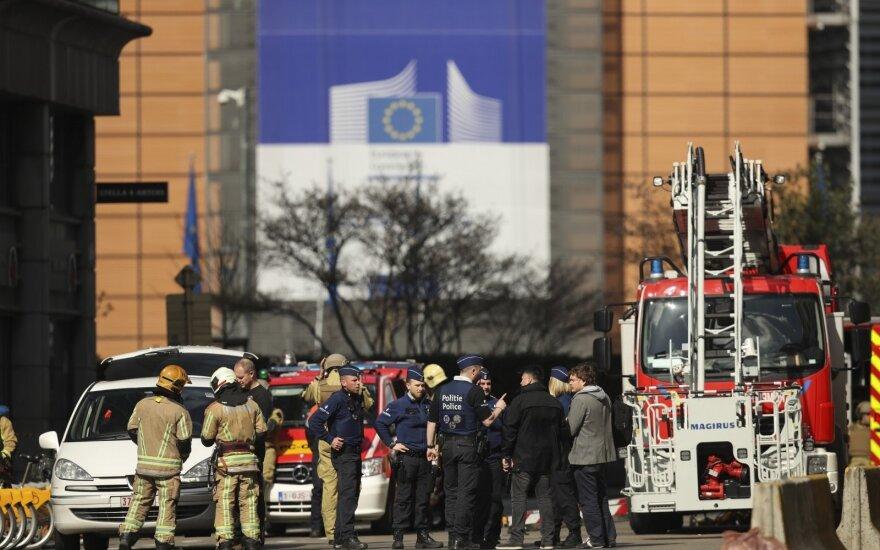 Pranešimas apie bombą šalia ES būstinės Briuselyje buvo melagingas