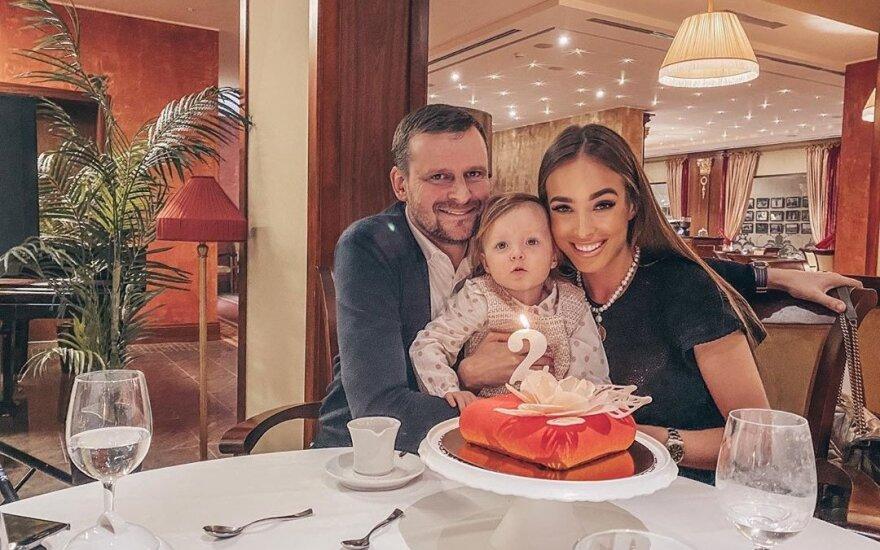 Viktorija Siegel, Danielius Bunkus ir jų dukra Nicole