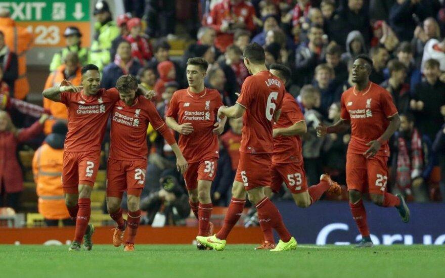 """""""Liverpool"""" klubas žais Anglijos taurės turnyro ketvirtfinalyje"""
