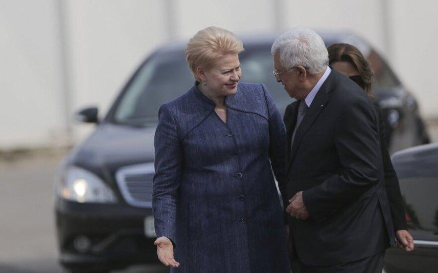 Dalia Grybauskaitė, Mahmoud Abbas