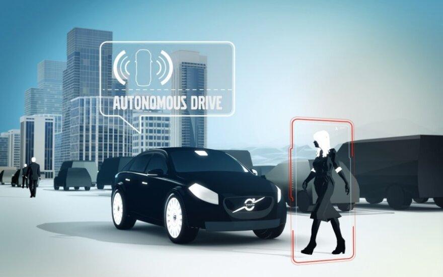 Automatiškai pasistatančio Volvo automobilio projektas