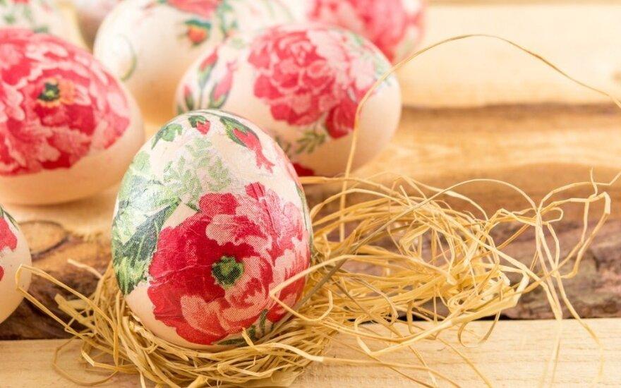 Rezultatas pranoks lūkesčius: dekupažiniai kiaušiniai
