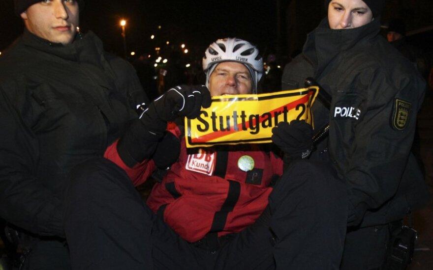 Sėdimasis protestas prieš projektą Štutgartas-21