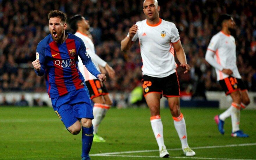 Ispanijos La Liga čempionatas, Barcelona – Valencia rungtynių akimirkos