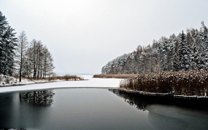 Kauno marios žiemą / skaitytojo Evaldo nuotr.