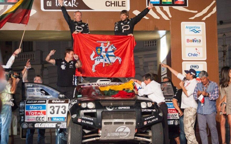 Iškilmingas Dakaro ralio podiumas