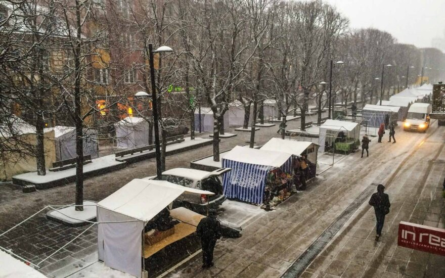 Žiema Kaune išvaikė Kazimiero mugę