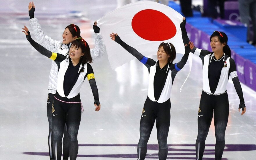 Pjongčange – olimpiniai Norvegijos ir Japonijos čiuožėjų rekordai