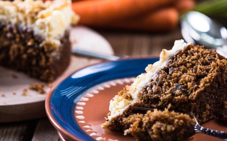Morkų pyragas, kuris pasiteisina 100 procentų