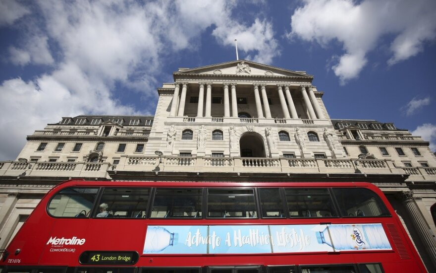 Anglijos bankas padidino bazinę palūkanų normą iki 0,75 proc.