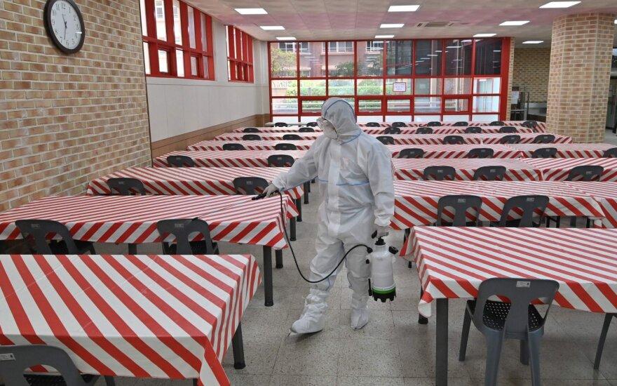 Kovos su virusu pavyzdžiu laikomoje Pietų Korėjoje – COVID-19 atvejų pliūpsnis