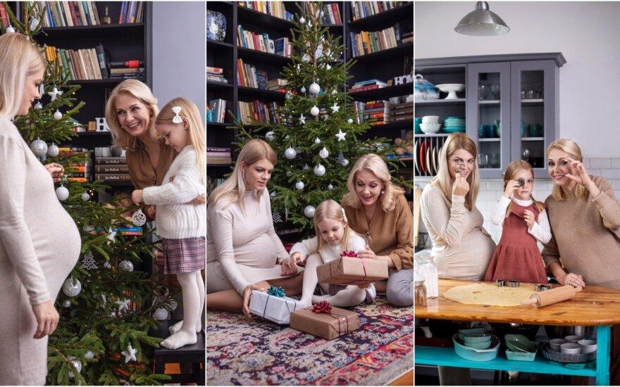 Gražina Baikštytė ir jos šeima /Foto: Adas Vasiliauskas