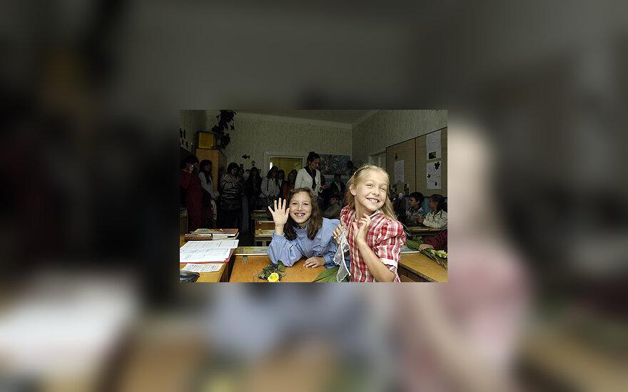 Vaikai, mokykla, mokinės, klasė, mergaitės