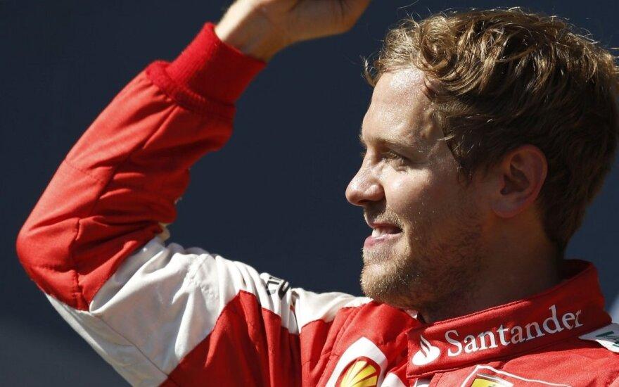 S. Vettelis: aš noriu nugalėti Kimį, o jis mane, bet tai – normali konkurencija
