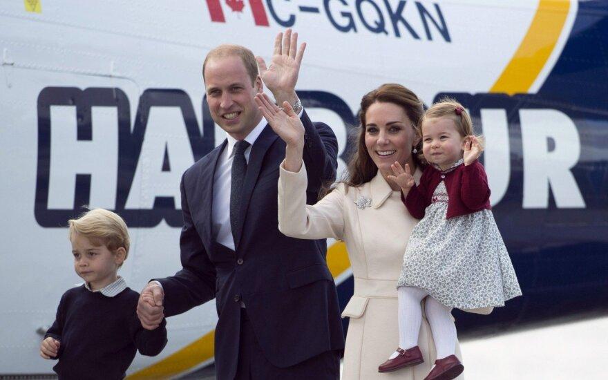 Princas Williamas ir K. Middleton ruošiasi vizitui į Lenkiją