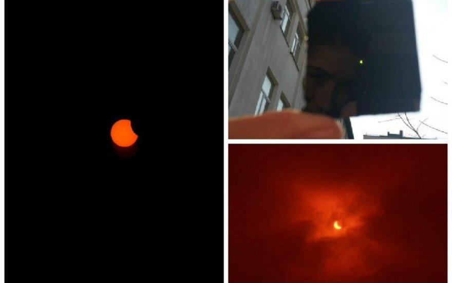 Saulės užtemimas Lietuvoje: DELFI skaitytojų nuotraukos