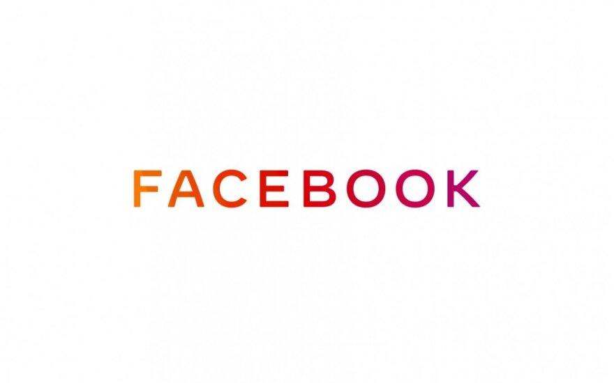 """""""Facebook"""" pristatė naują patronuojamosios bendrovės logotipą"""