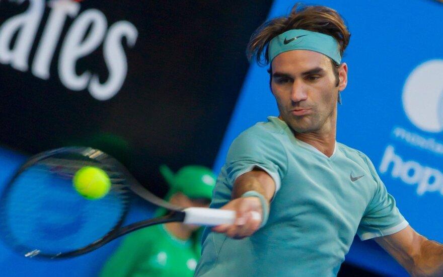 R. Federeris po pusmečio pertraukos grįžo pergalingai
