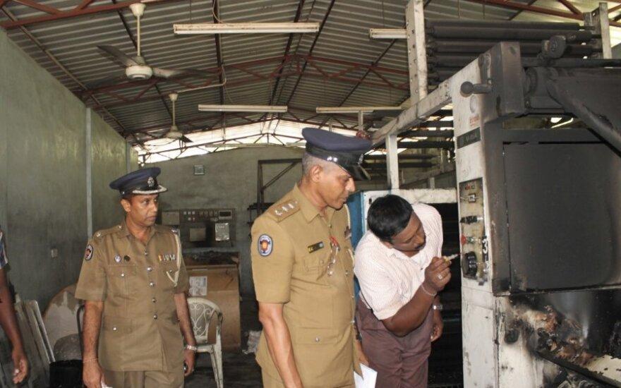 Šri Lankos šiaurėje ginkluoti užpuolikai atakavo tamilų laikraščio redakciją