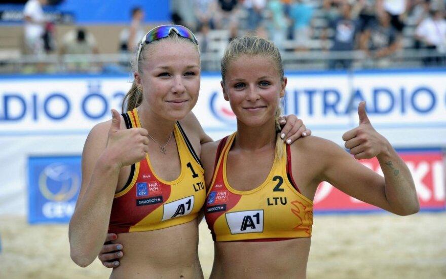 Ieva Dumbauskaitė ir Monika Povilaitytė (CEV nuotr.)