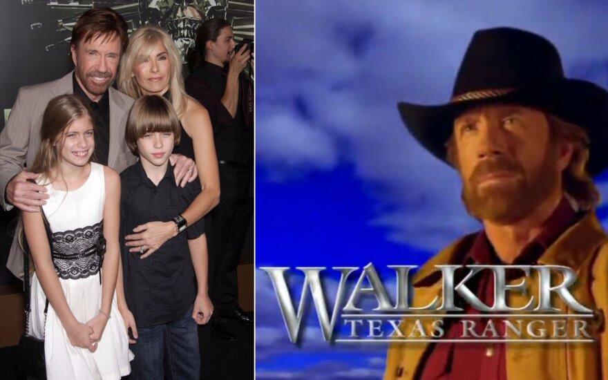 Chuckas Norrisas su šeima