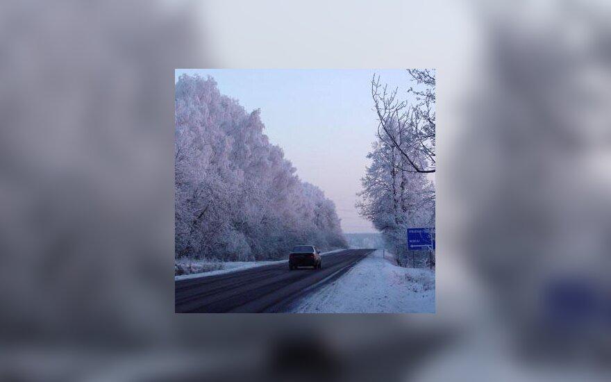 kelias, žiema