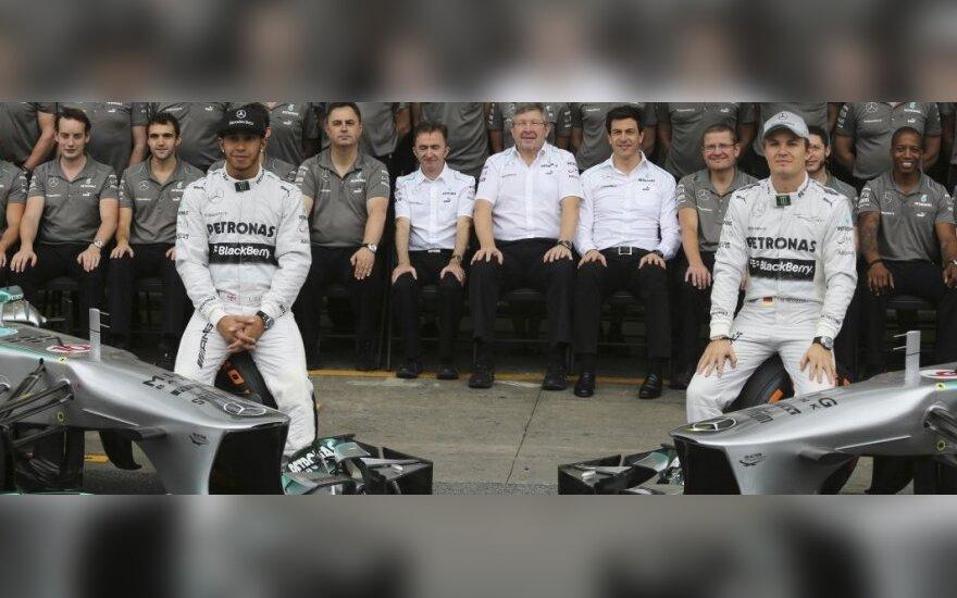 """Lewisas Hamiltonas, Nico Rosbergas ir """"Mercedes"""" komanda"""