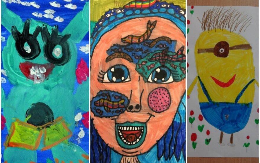 Vaikų konkurso piešiniai