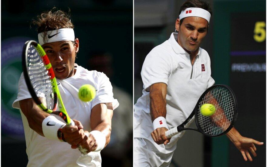 Rafaelis Nadalis (kairėje), Rogeris Federeris