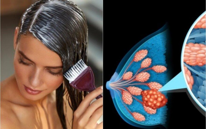 Krūties vėžys ir plaukų dažai
