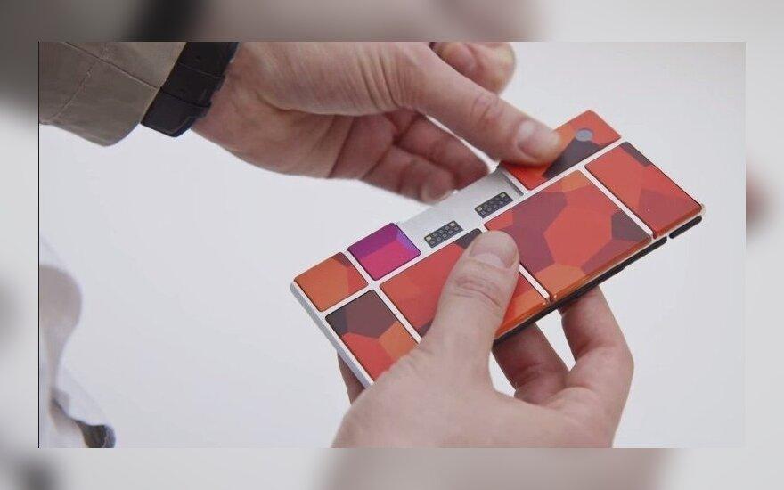 """Išmanusis telefonas su keičiamomis dalimis """"Project Ara"""""""