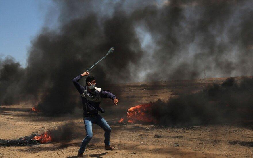 Gazos Ruožo kovotojai paleido sviedinių į pietų Izraelį