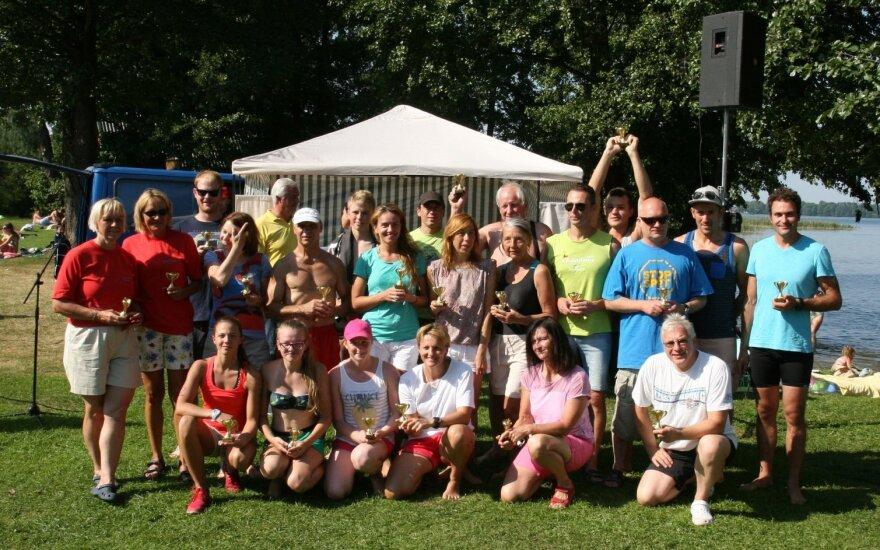 Sudeikių plaukimo maratono atskirų grupių nugalėtojai