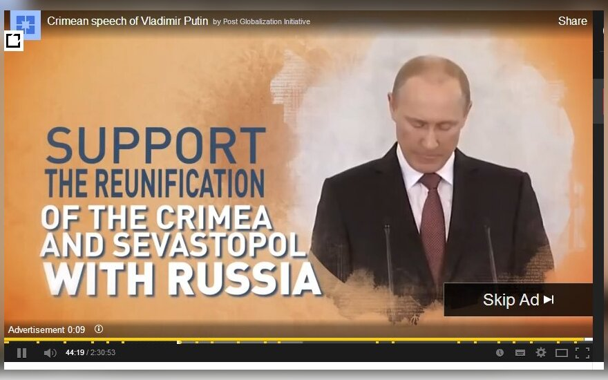Kremlin's propaganda on Youtube