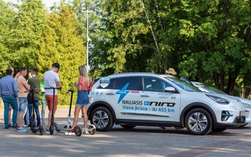 """""""Kia e-Niro"""" tapo greičiausiu SUV elektromobilių varžybose. Alvydo Lukoševičiaus nuotr."""