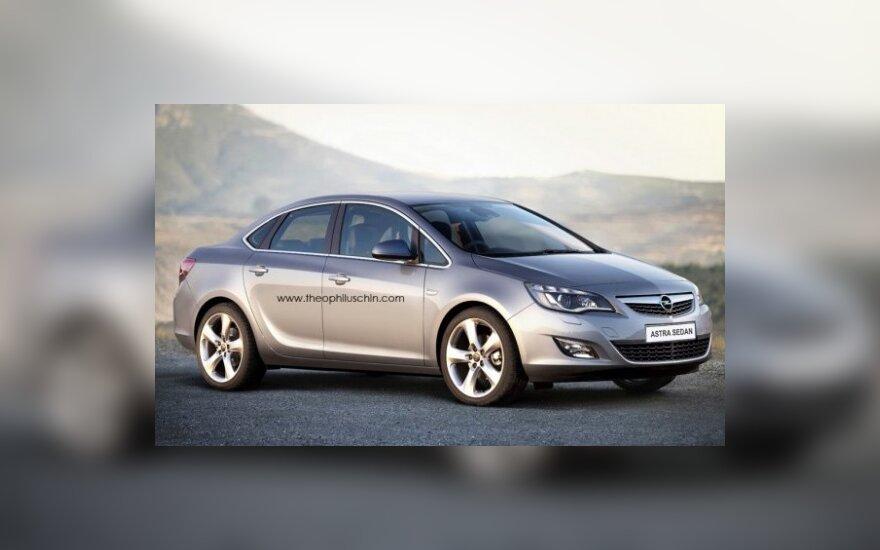"""Naujoji """"Opel Astra"""" – sedano kėbulu"""