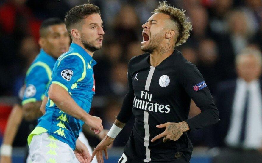 """UEFA Čempionų lyga: PSG išplėšė lygiąsias, bet liko trečias, """"Borussia"""" sugėdino """"Atletico"""""""