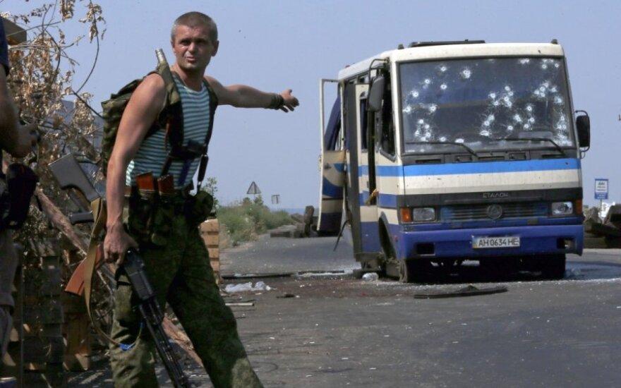 Separatistų pasala Ukrainoje: žuvo 12 kovotojų