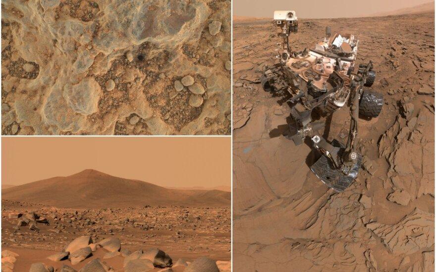 """NASA Marsaeigis """"Perseverance"""" rengiasi paimti pirmą uolienų mėginį nuo Raudonosios planetos paviršiaus, paskelbė JAV kosmoso agentūra."""