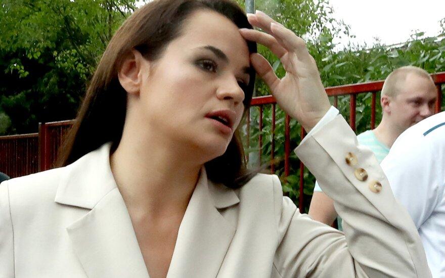 Though he will win August 9's presidential election ...  |Svetlana Tikhanovskaya