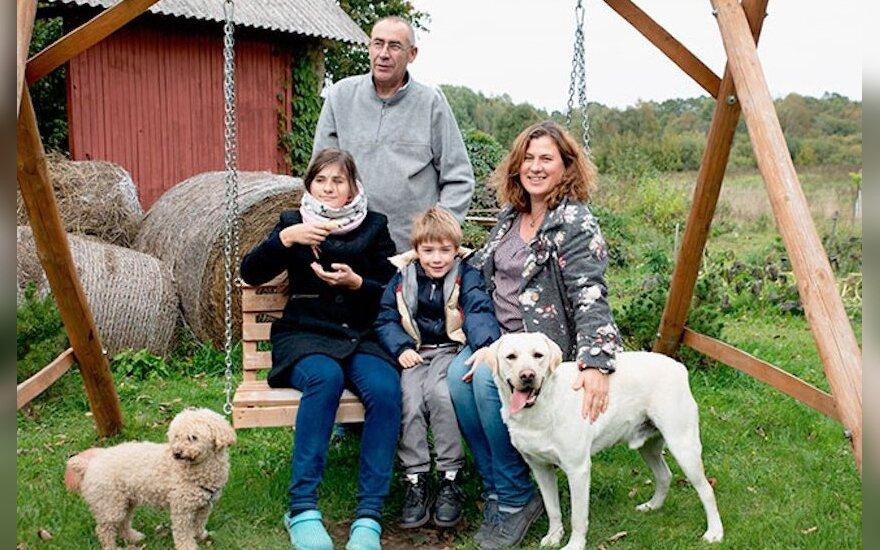 Lina Galminaitė Blanchot su šeima
