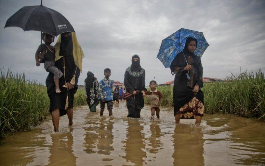 JT: Mianmaras nėra pasiruošęs rohinjų grįžimui iš kaimyninio Bangladešo