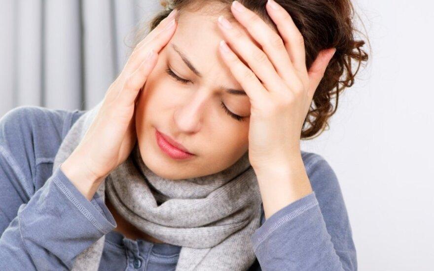 Migreną primenantis galvos skausmas gali baigtis mirtimi