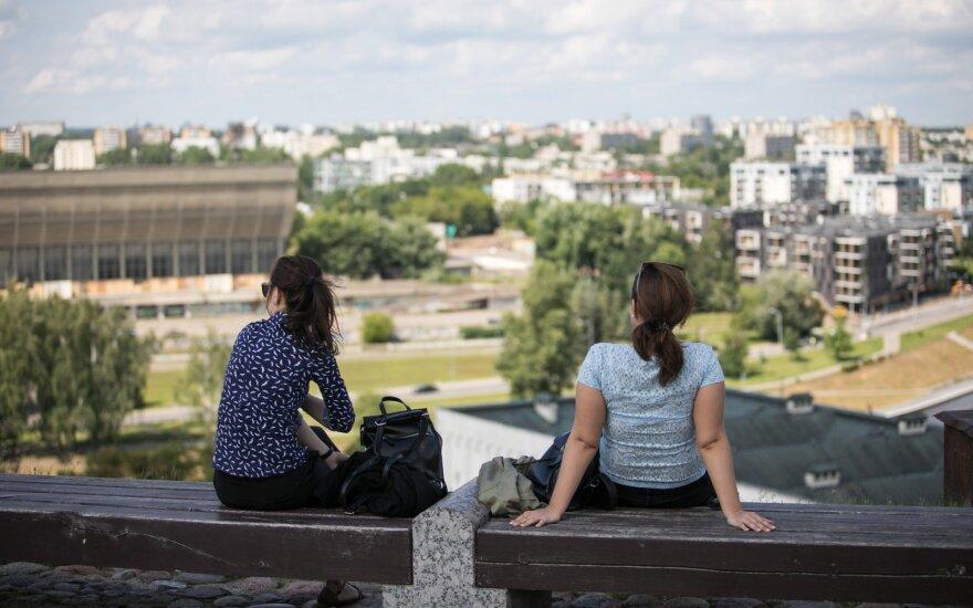 Tourists in Vilnius