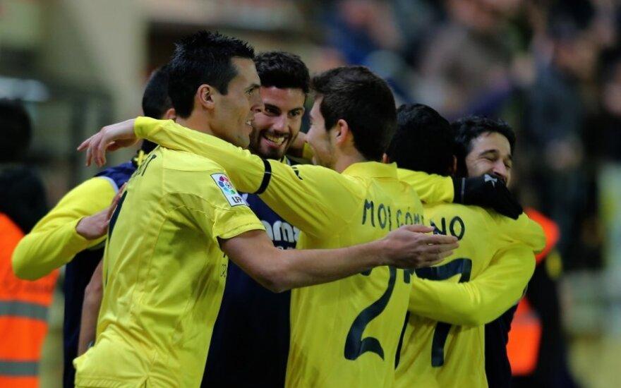 """""""Villarreal"""" futbolininkai džiaugiasi pergale"""