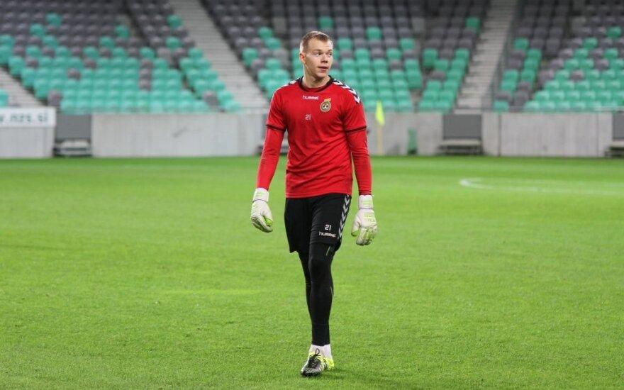 Vartininko V. Černiausko atstovaujamo klubo lygiosios Rumunijos futbolo elite