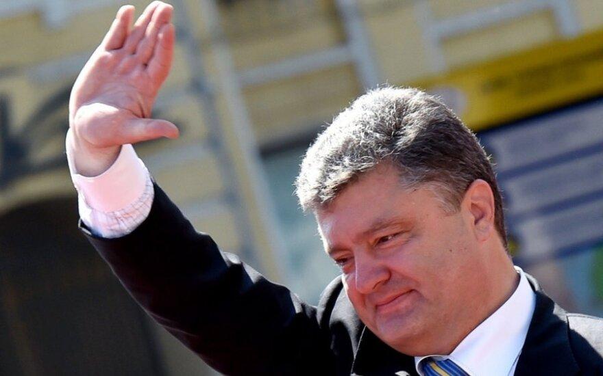 P. Porošenka įvardijo sąlygą deryboms