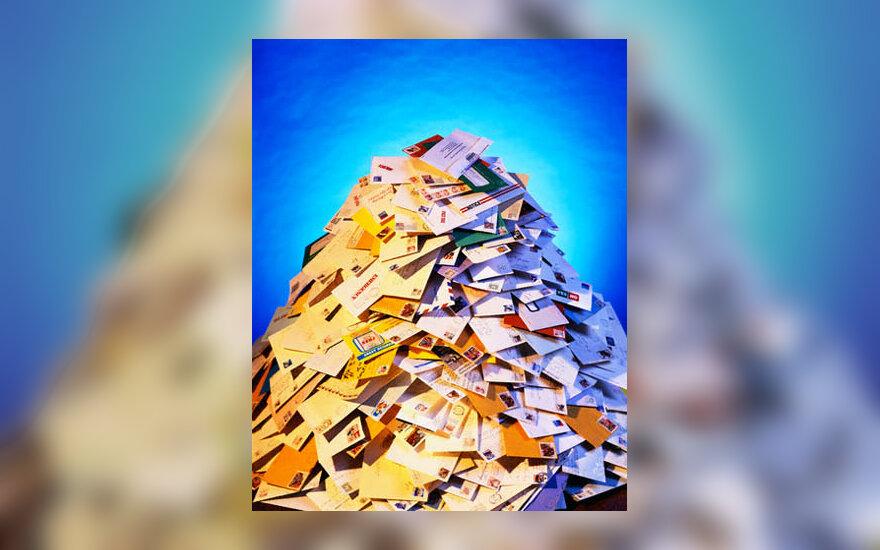 paštas, laiškai, vokai