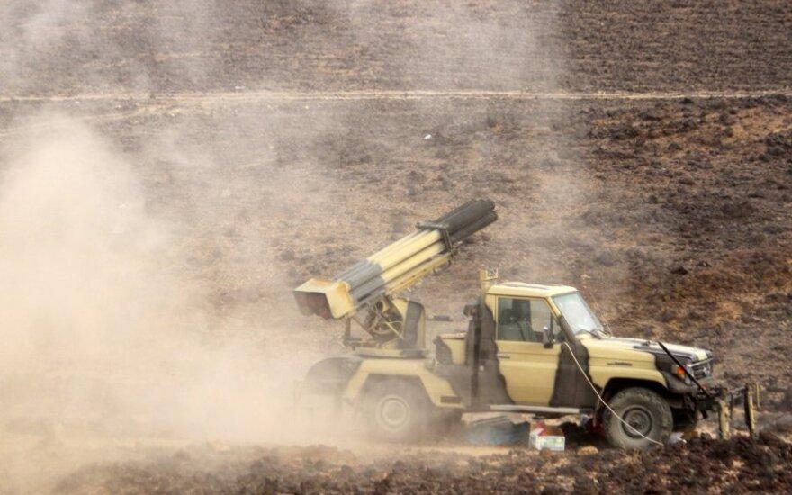 Jemeno sukilėlių raketinė artilerija