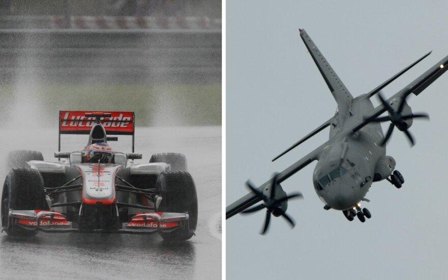 Į Kazlų Rūdą ateityje užsuks ne lenktyniniai bolidai, o krovininiai karo lėktuvai